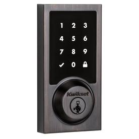 Kwikset 915 Touchscreen Contemporary Electronic Deadbolt featuring SmartKey Security™ in Venetian Bronze
