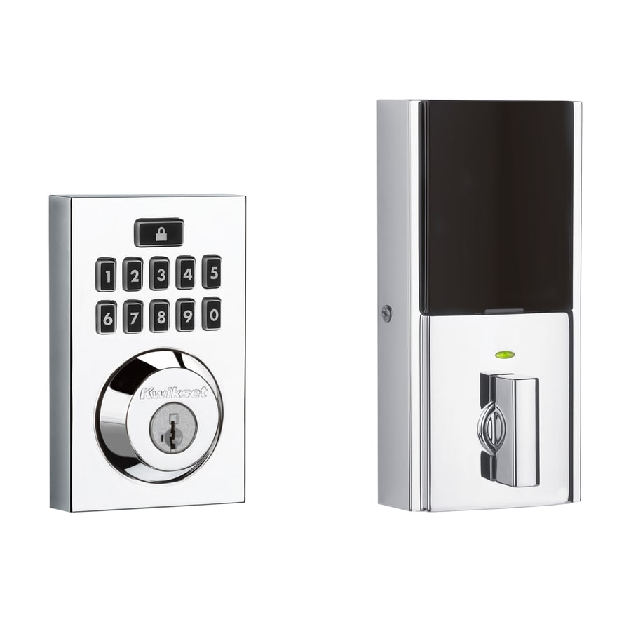 Kwikset Contemporary Smartcode Polished Chrome Single