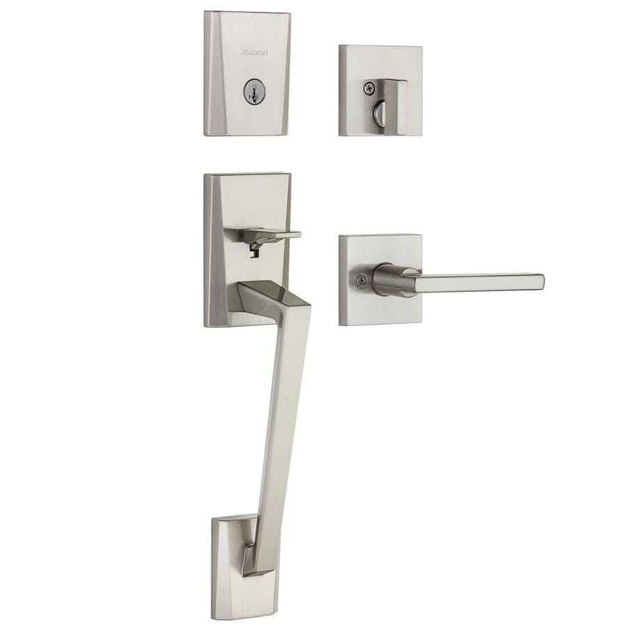Kwikset Camino Smartkey Satin Nickel Single-Lock Keyed Entry Door Handleset