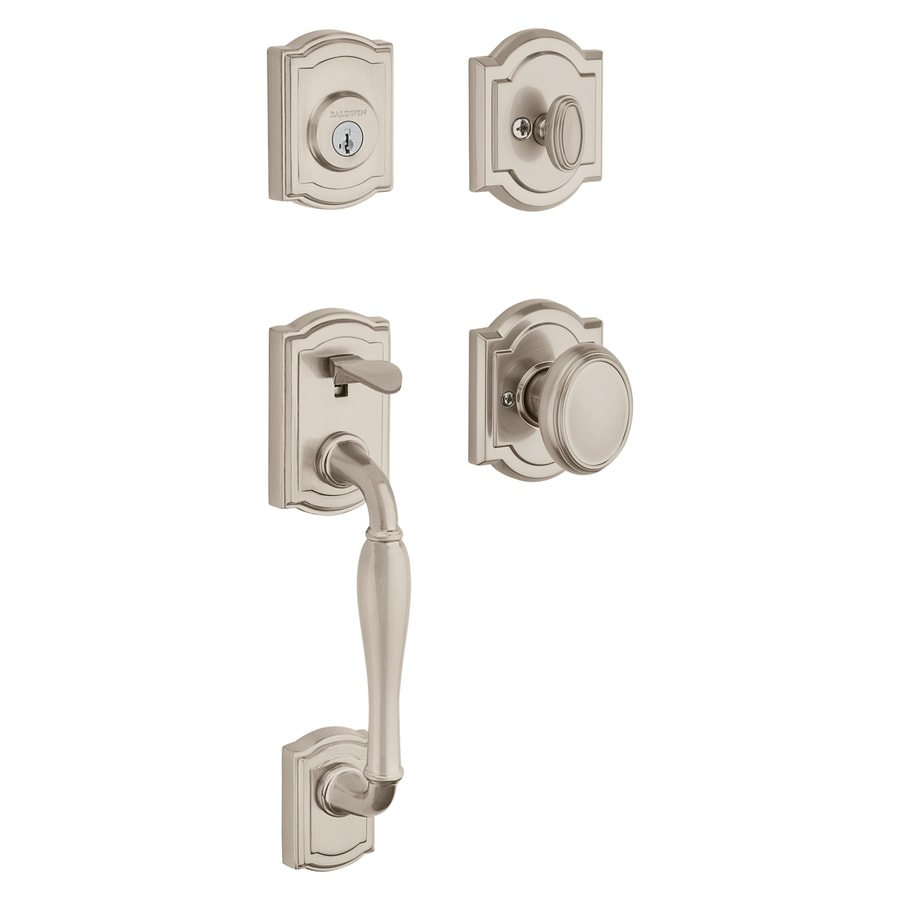 BALDWIN Wesley Smartkey Satin Nickel Single-Lock Keyed Entry Door Handleset