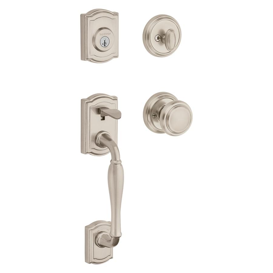 BALDWIN Wesley Smartkey Satin Nickel Single-Lock Keyed Entry Door Handleset