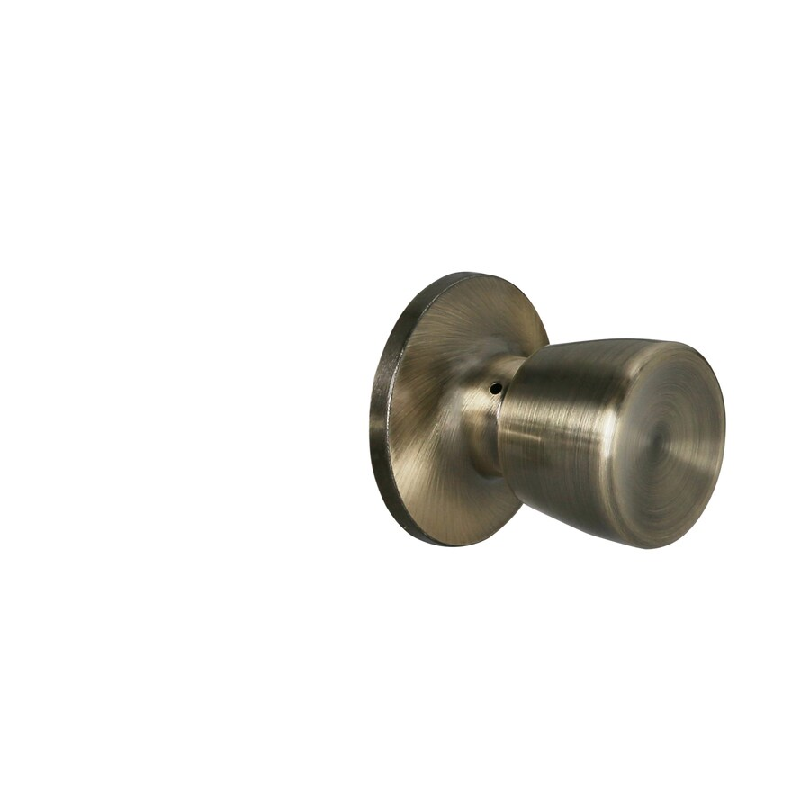Gatehouse Gallo Antique Brass Passage Door Knob At Lowes Com
