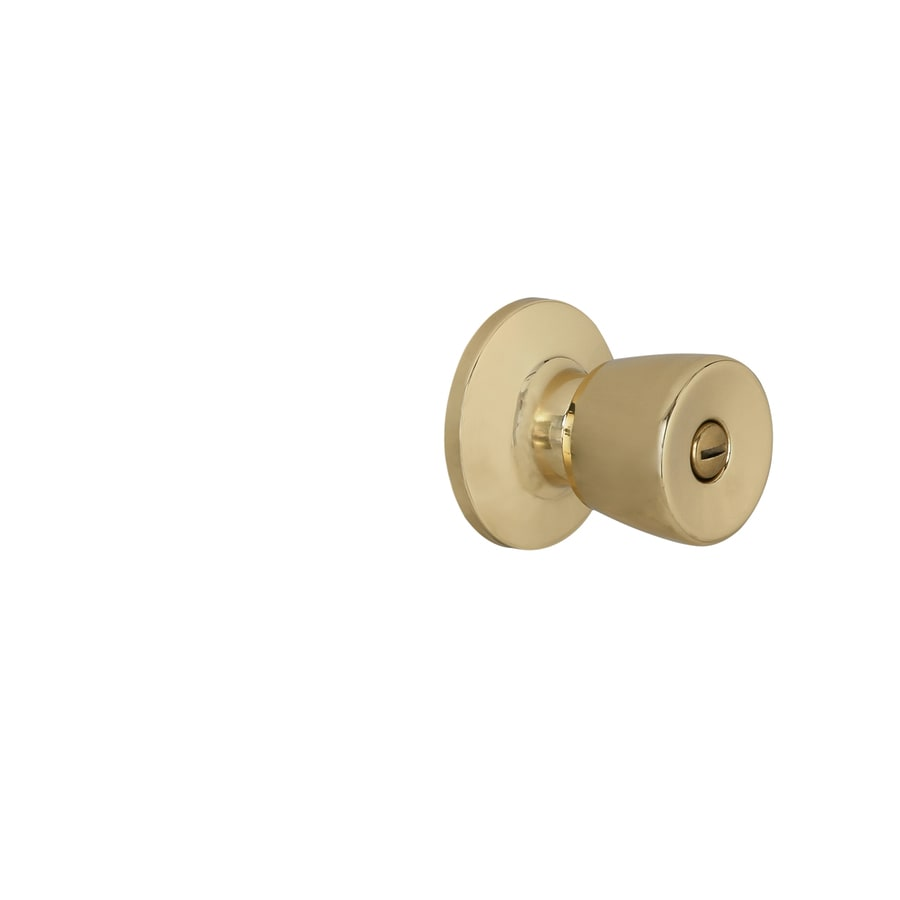 Shop Gatehouse Gallo Polished Brass Tulip Turn Lock Privacy Door ...