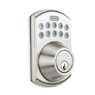 Gatehouse Satin Nickel 1 Cylinder Lighted Keypad At Lowes Com