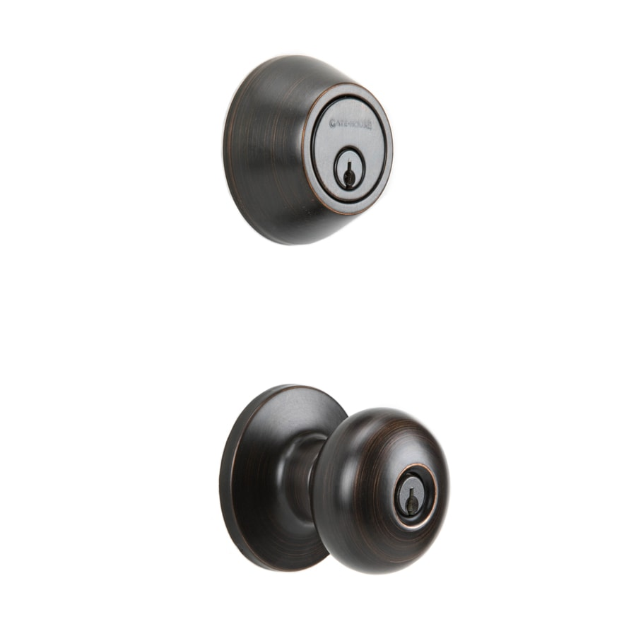 Lovely Gatehouse Baron Antique Bronze Keyed Entry Door Knob Single Cylinder  Deadbolt Combo Pack