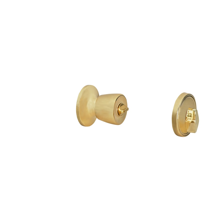 Shop Gatehouse Gallo Polished Brass Keyed Entry Door Knob at Lowes.com