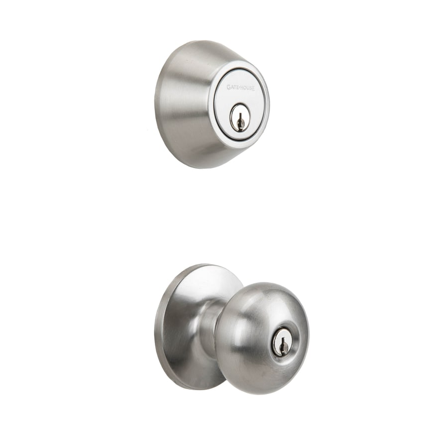 Gatehouse Baron Satin Nickel Double Cylinder Deadbolt