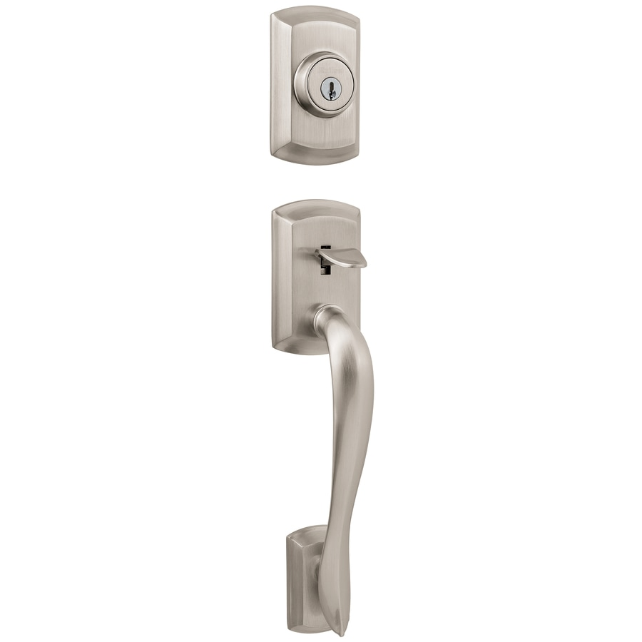 Kwikset Avalon Adjustable Satin Nickel Entry Door Exterior Handle