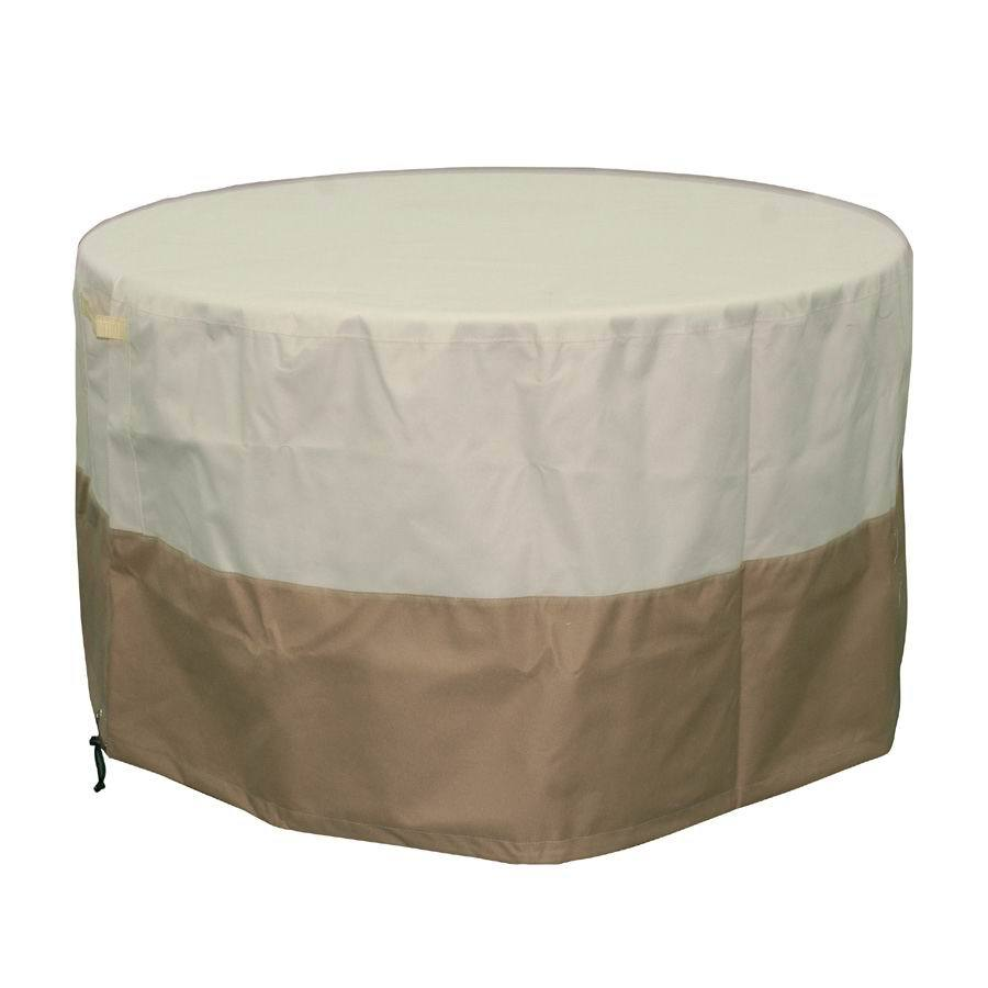Garden Treasures 44-in Beige-Khaki Round Firepit Cover