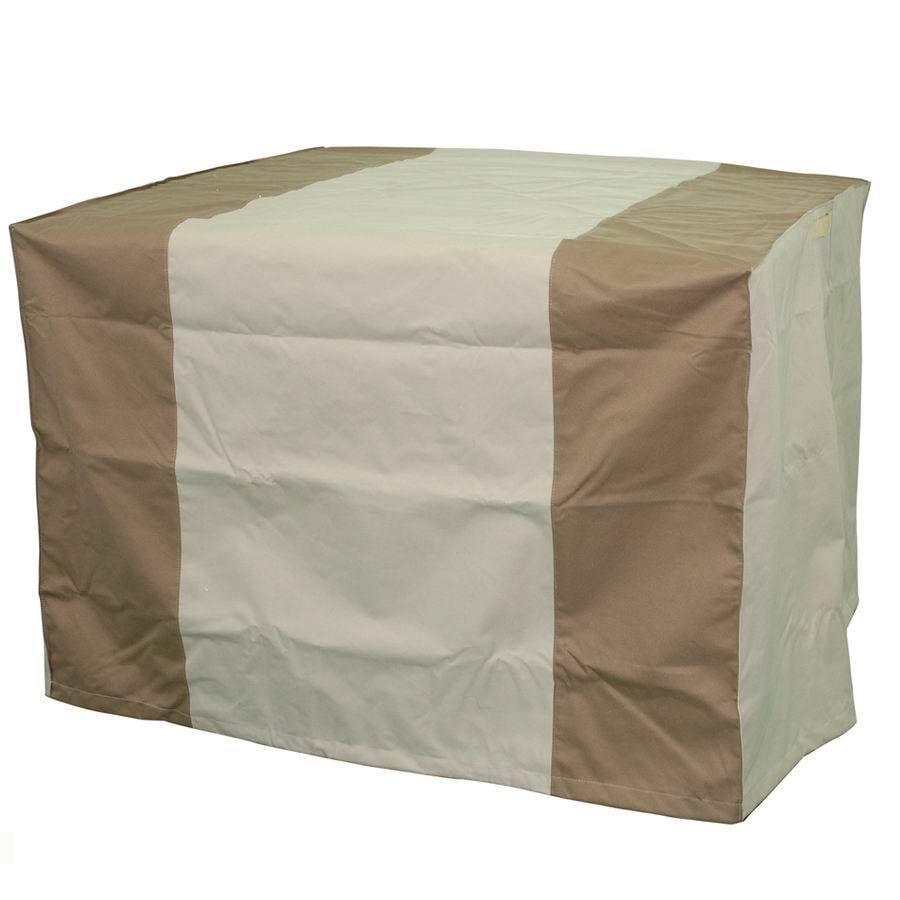 Garden Treasures 40-in Beige-Khaki Square Firepit Cover