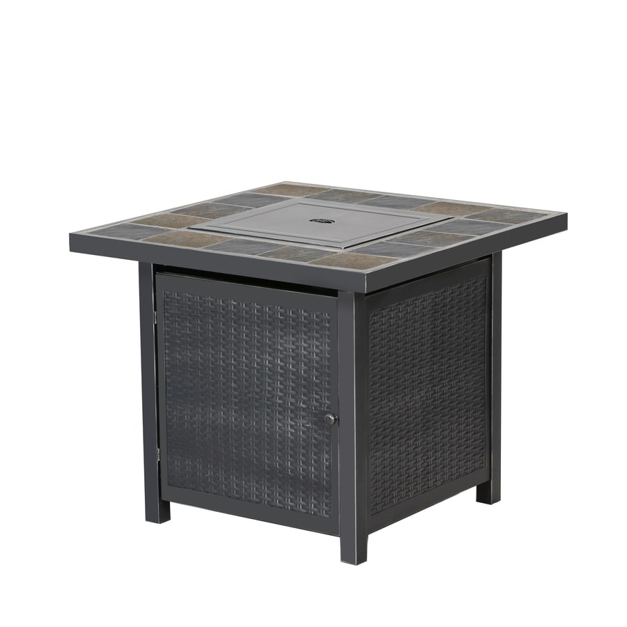 Shop gas fire pits at lowes bali 30 in w 50000 btu propane gas fire table geotapseo Image collections