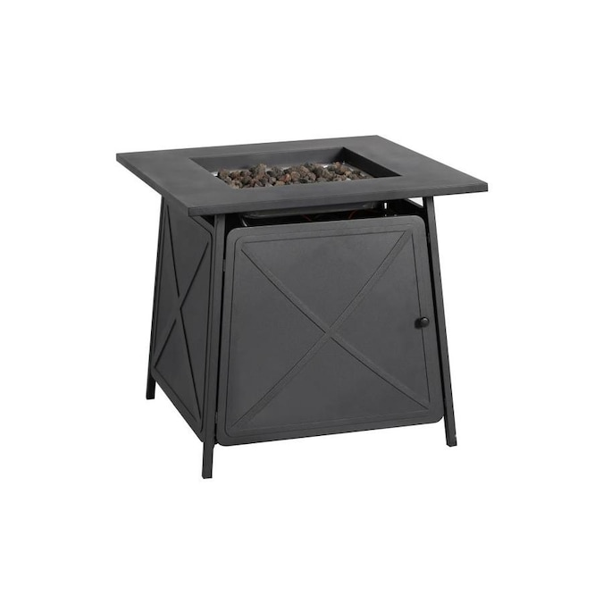 Bali 28 In W 50000 Btu Black Steel Propane Gas Fire Pit The Pits Department At Lowes