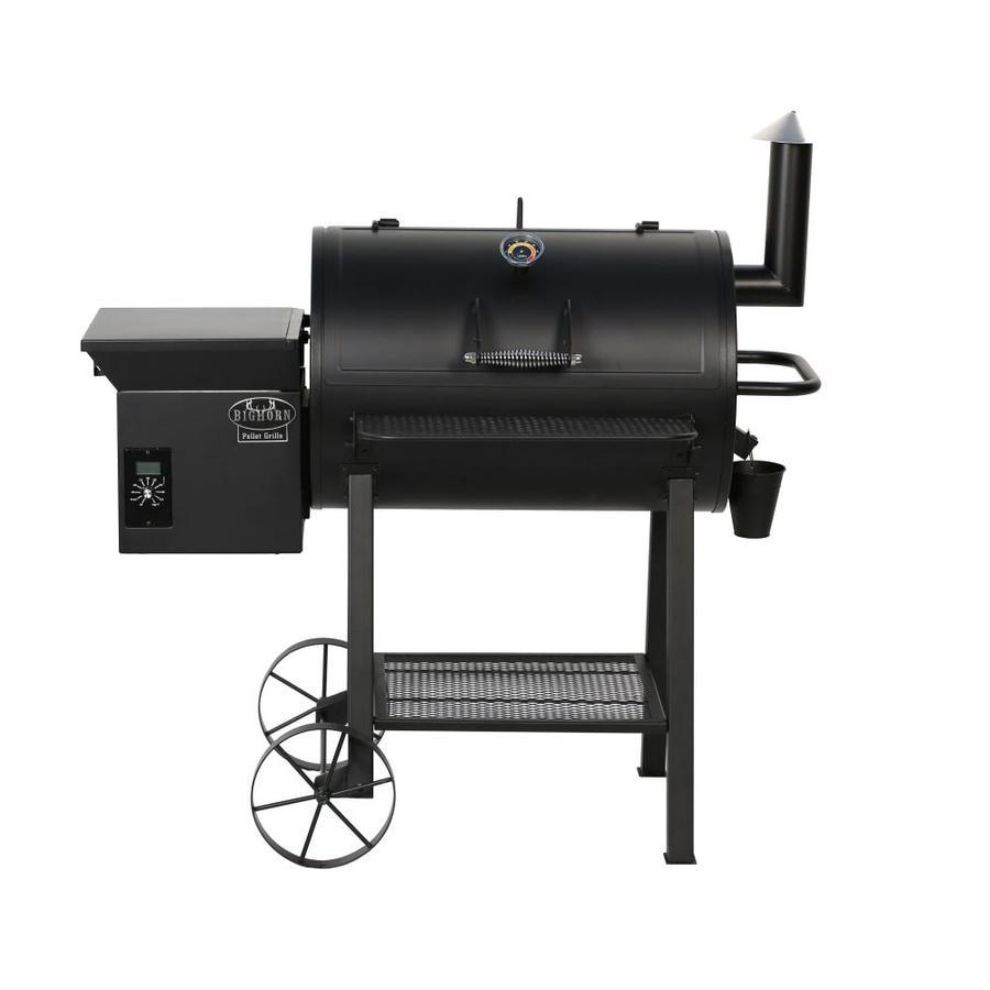 Large Wood Pellets ~ Shop big horn sq in black pellet grill at lowes
