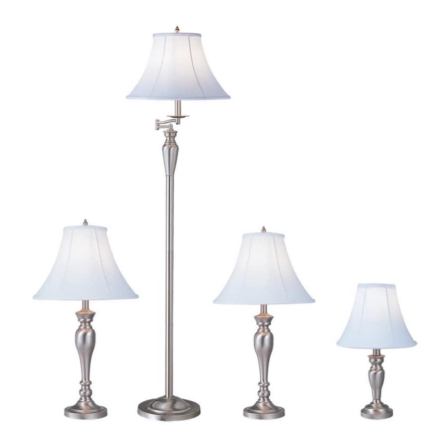Shop Portfolio 4-Piece Brushed Nickel Lamp Set at Lowes.com