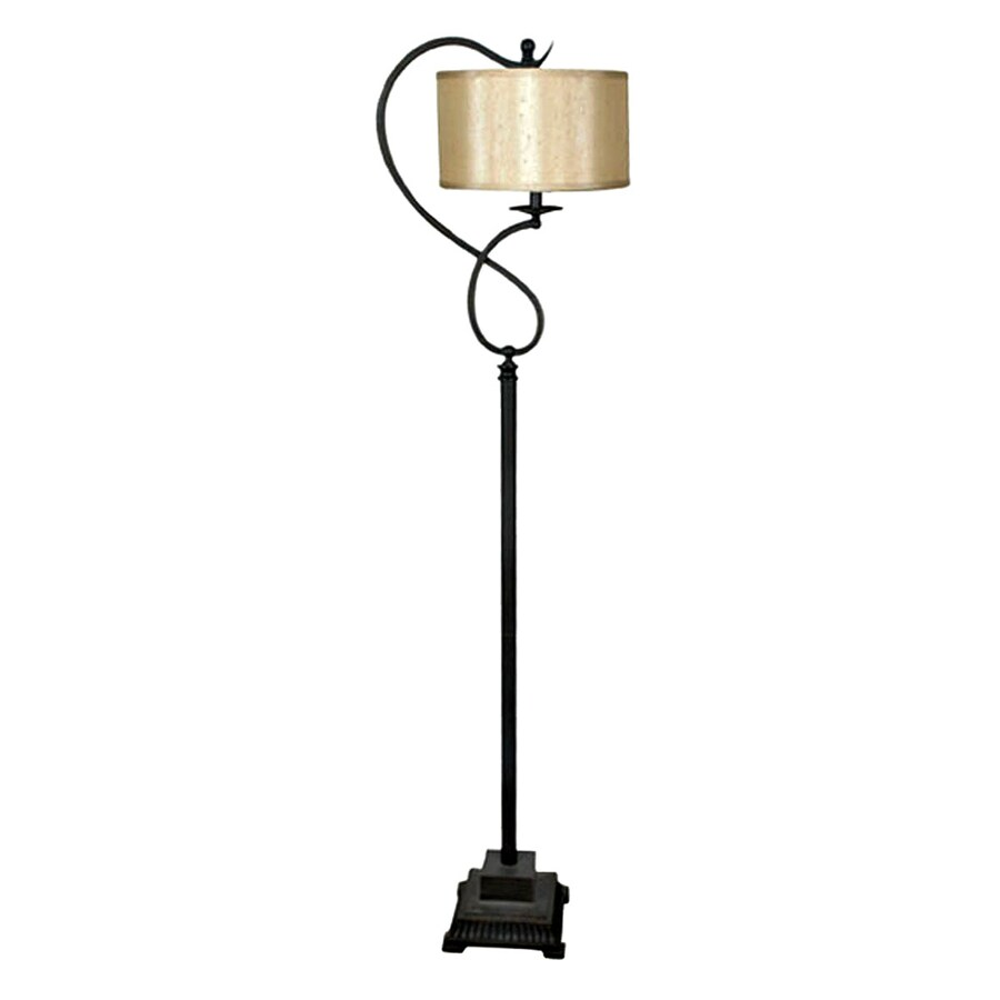 Absolute Decor 64-in Oil Rubbed Bronze Finish Indoor Floor Lamp with Fabric Shade