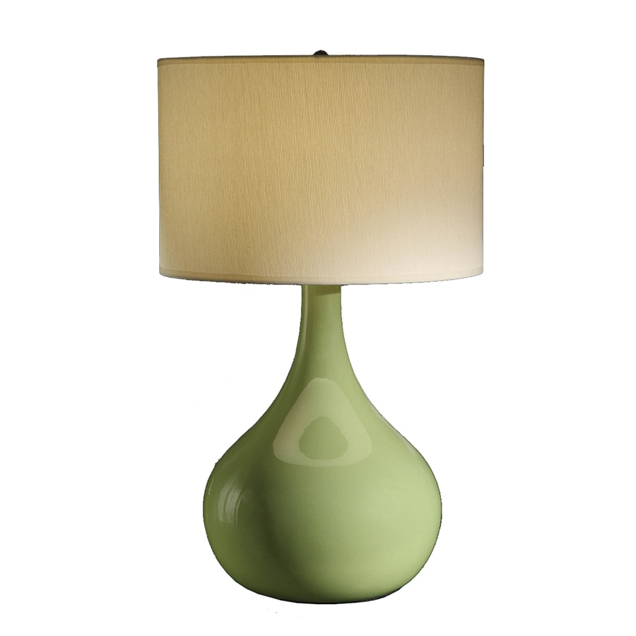 Absolute Decor 28-in 3-Way Fresco Green Indoor Table Lamp with Fabric Shade