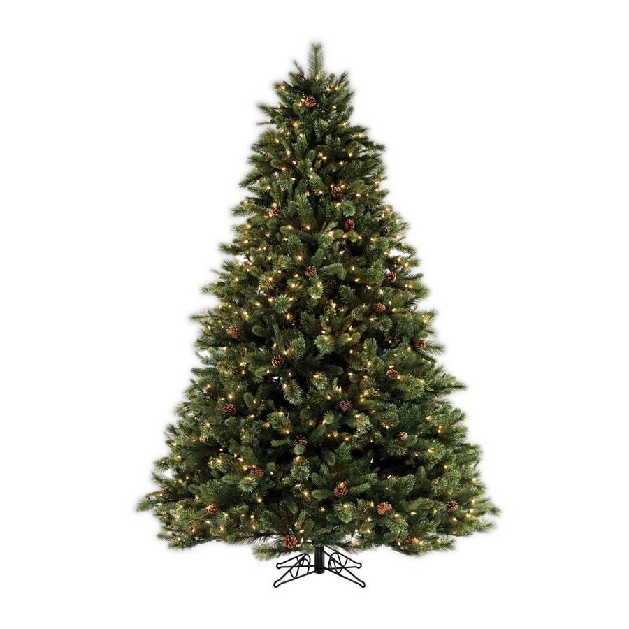 Shop SYLVANIA 7.5' Pine Artificial Christmas Tree with Clear Lights ...