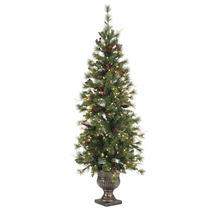 SYLVANIA 5-ft Fir Pre-lit Decorative Artificial Tree with 200-Count Clear Lights
