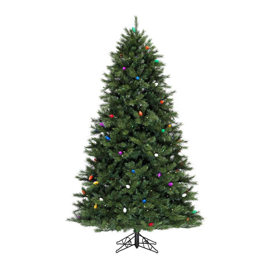 Shop SYLVANIA 7' Pine Artificial Christmas Tree with Multicolor LED ...