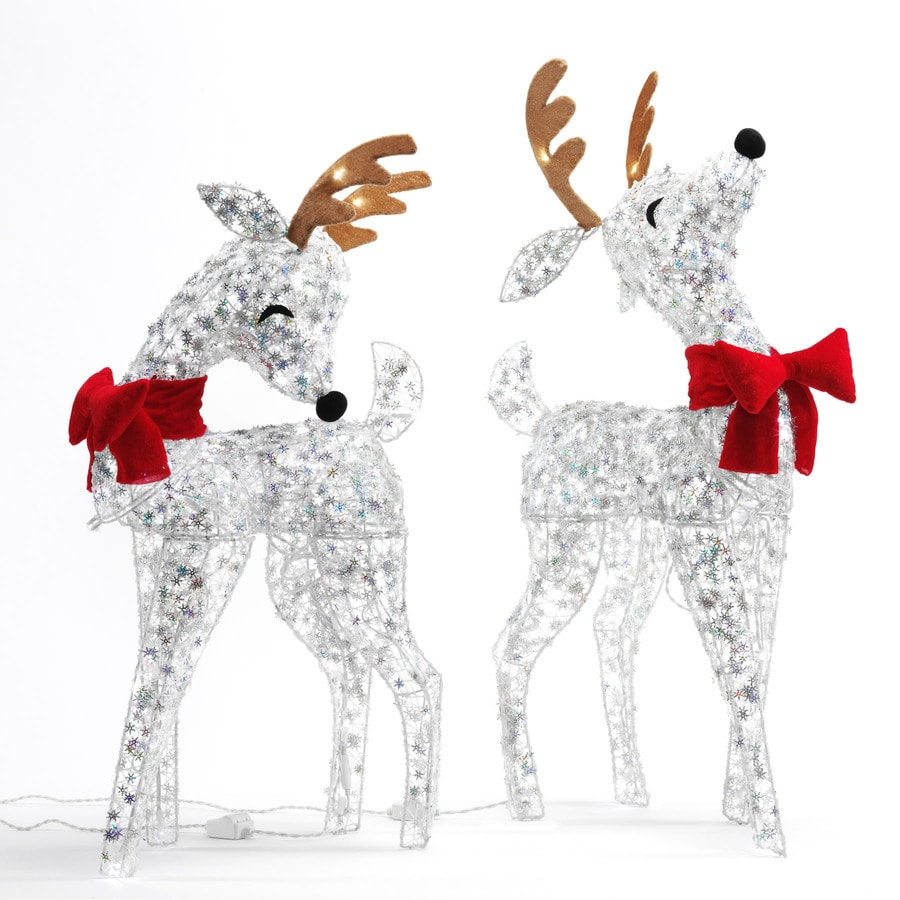 SYLVANIA Pre-Lit Reindeer Sculpture with Twinkling White Lights