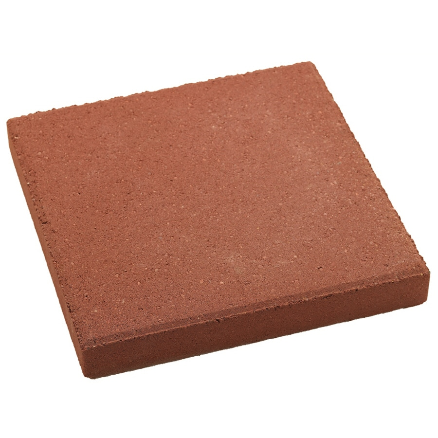 Red Square Patio Stone (Common: 12-in x 12-in; Actual: 12-in x 12-in)