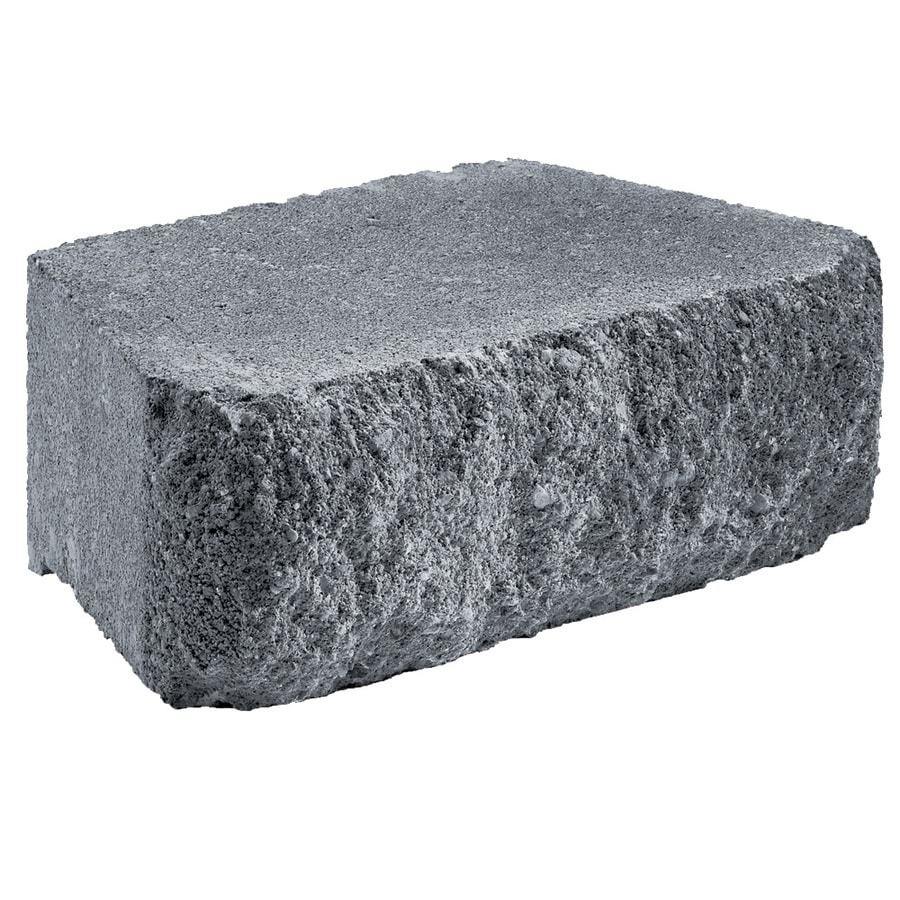 Aspen Stone Charcoal Retaining Wall Block (Common: 8-in x 12-in; Actual: 7.8-in x 11.6-in)