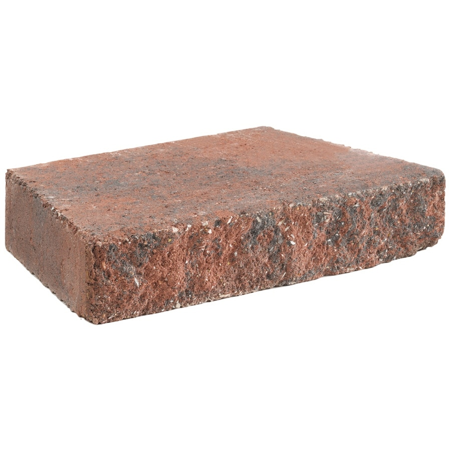 Retaining Wall Block Caps Home Depot : Anchor block red charcoal hudson retaining wall cap common in actual