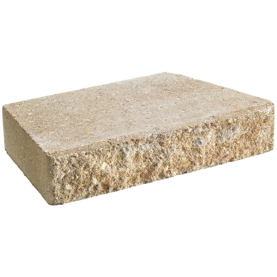 Anchor Block Sand Hudson Retaining Wall Cap (Common: 12-in x 2-in; Actual: 11.6-in x 2-in)
