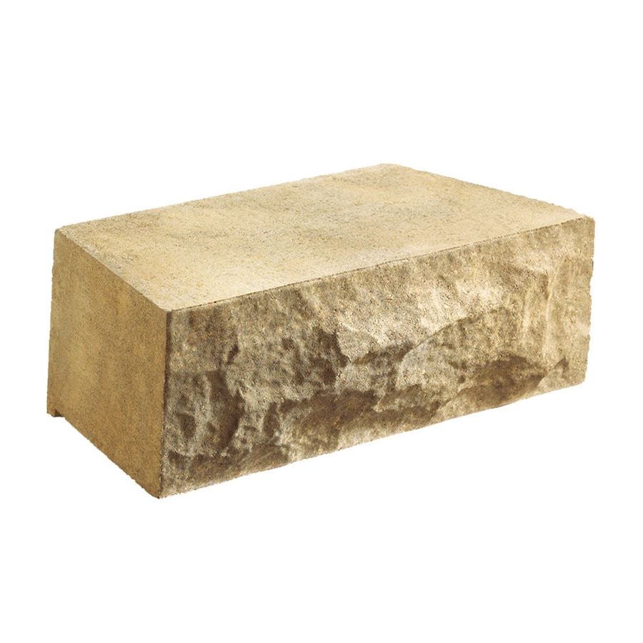 Anchor Block Tan/Brown Chiselwall Retaining Wall Block (Common: 12-in x 4-in; Actual: 12-in x 4-in)