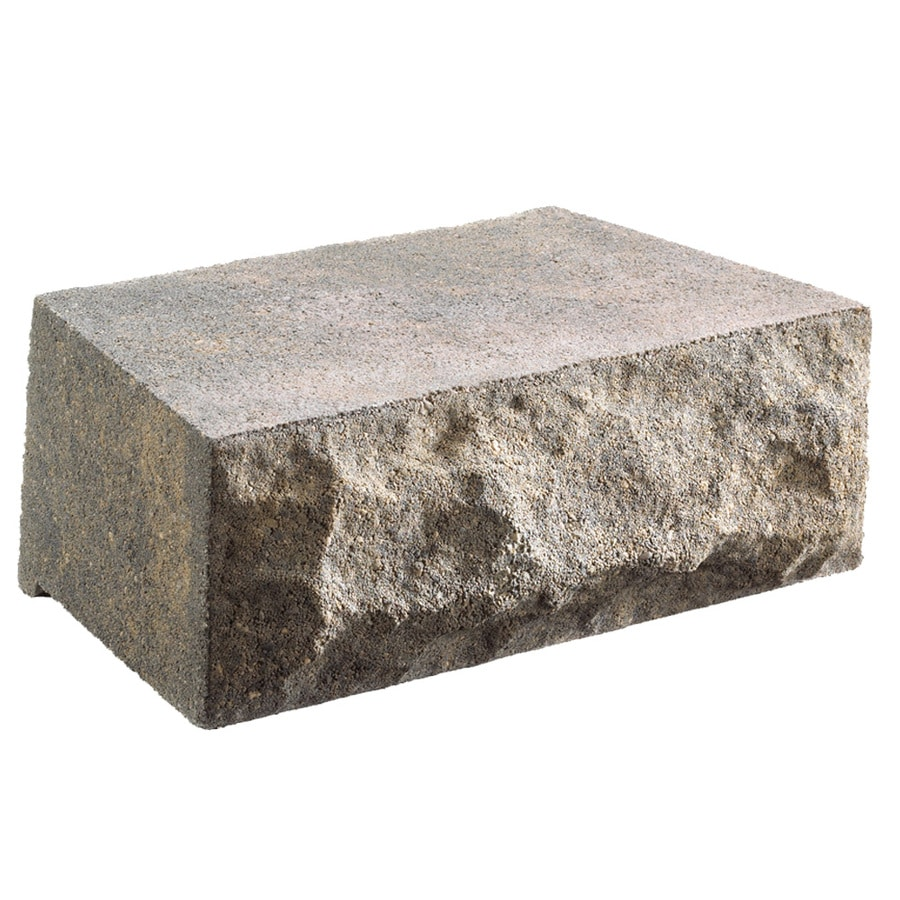 Charcoal/Tan Chiselwall Retaining Wall Block (Common: 10-in x 12-in; Actual: 9.5-in x 12-in)