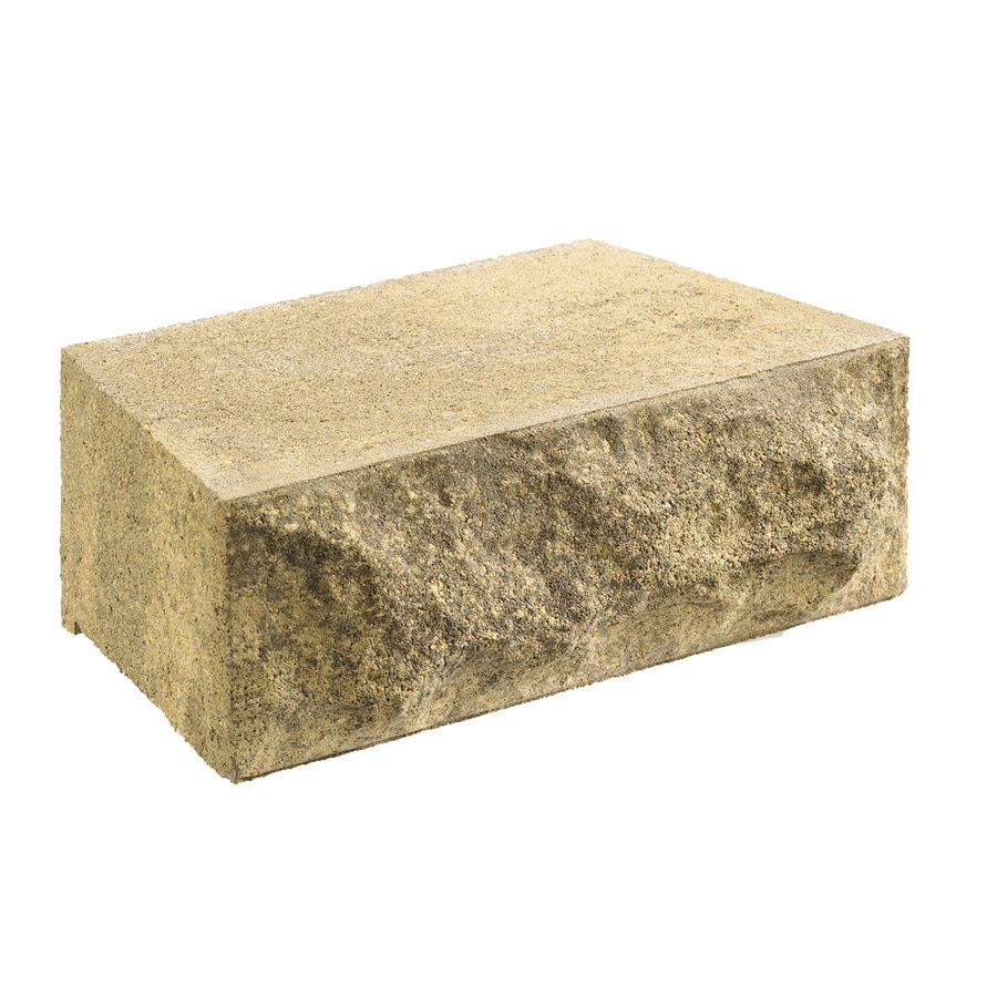 Tan/Brown Chiselwall Retaining Wall Block (Common: 7-in x 9-in; Actual: 7-in x 9-in)