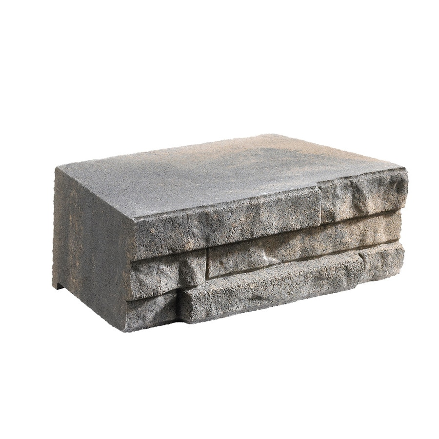 Shop Anchor Charcoal/Tan Ledgewall Retaining Wall Block (Common: 9-inx3-in; Actual: 9-inx3 ...