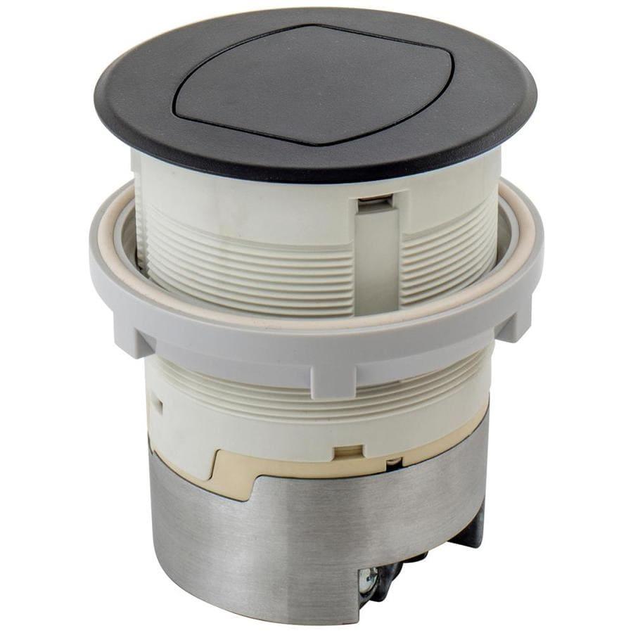 Shop Hubbell 15 Amp 125 Volt Black Recessed Duplex Tamper Resistant Wiring Kitchen Counter Outlets Outlet