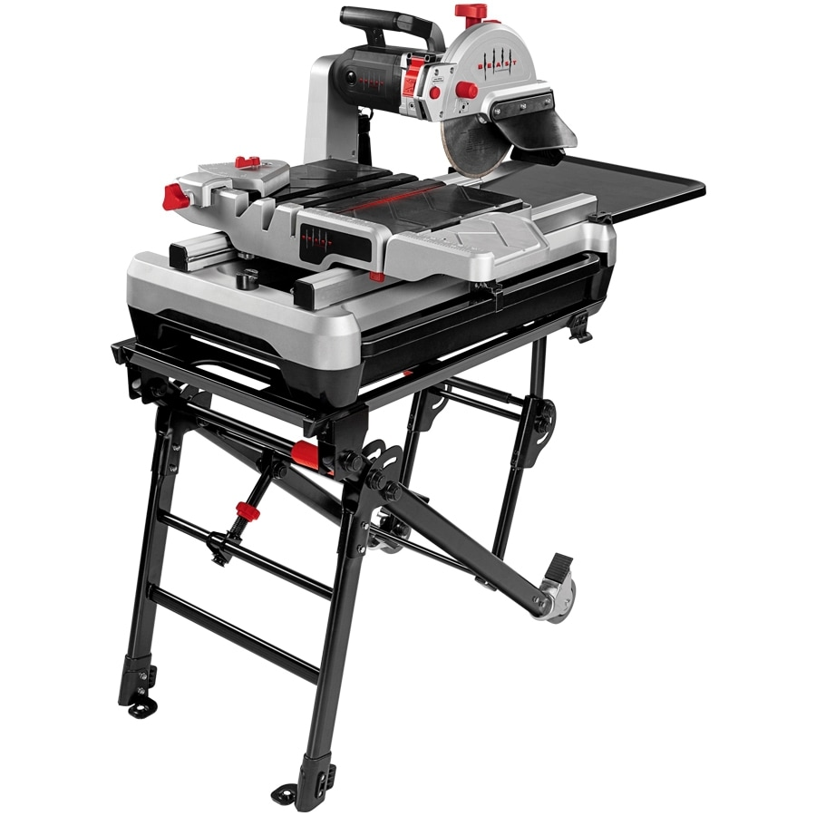 Beast 10-in 2.4-HP Wet Slide Tile Saw with Stand