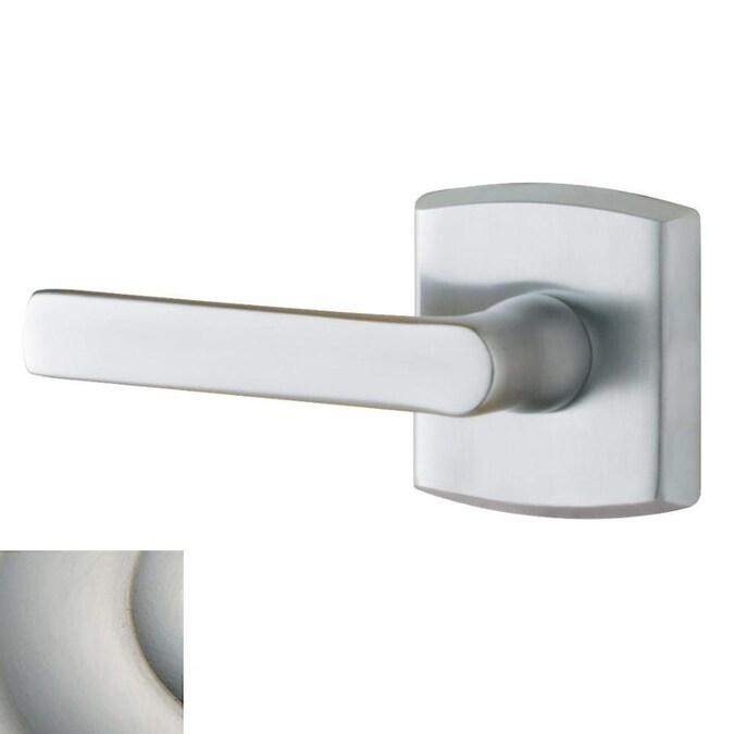 Baldwin Estate Soho Lifetime Satin Nickel Left Handed Dummy Door Handle In The Door Handles Department At Lowes Com