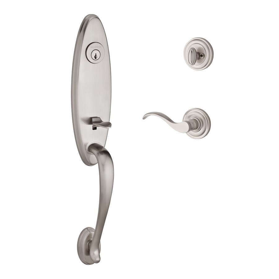 BALDWIN Reserve Chesapeake Curve Lever Traditional Satin Nickel Single-Lock Keyed Entry Door Handleset