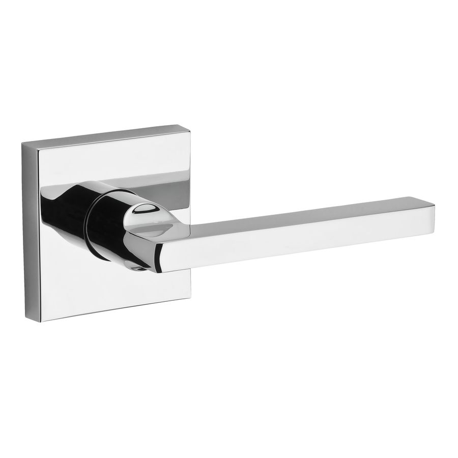 BALDWIN Reserve Square Polished Chrome Right-Handed Dummy Door Lever
