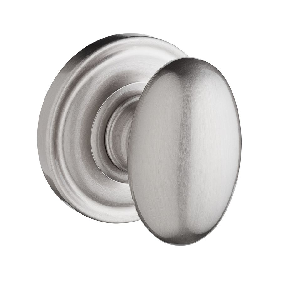 BALDWIN Reserve Ellipse Satin Nickel Egg Passage Door Knob