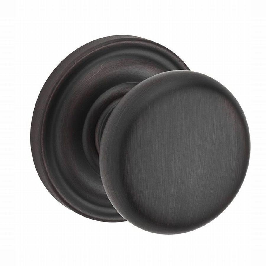 BALDWIN Reserve Venetian Bronze Round Push-Button Lock Privacy Door Knob