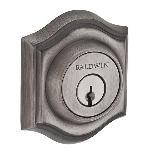 Baldwin Matte Antique Nickel Single Cylinder Deadbolt At