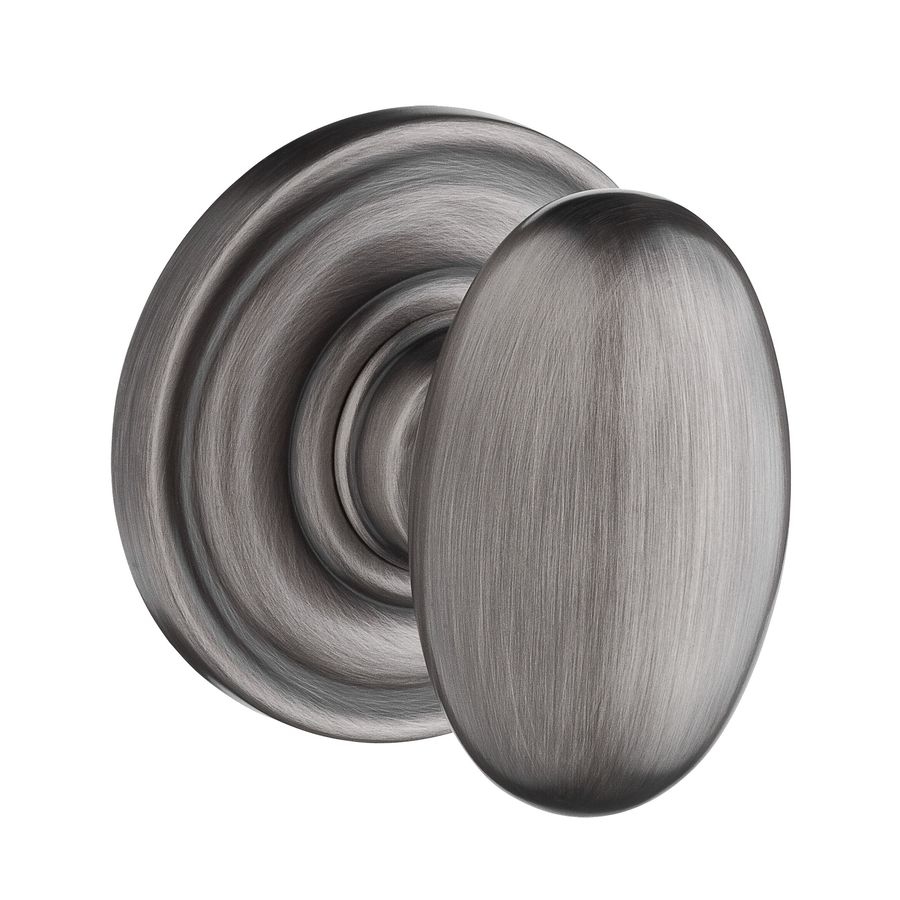 BALDWIN Reserve Ellipse Matte Antique Nickel Passage Door Knob Single Pack
