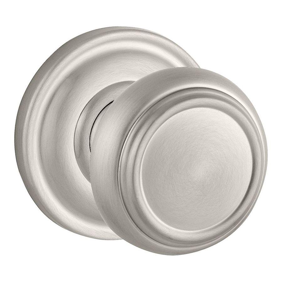 Baldwin reserve satin nickel dummy door knob single pack - Satin nickel interior door knobs ...