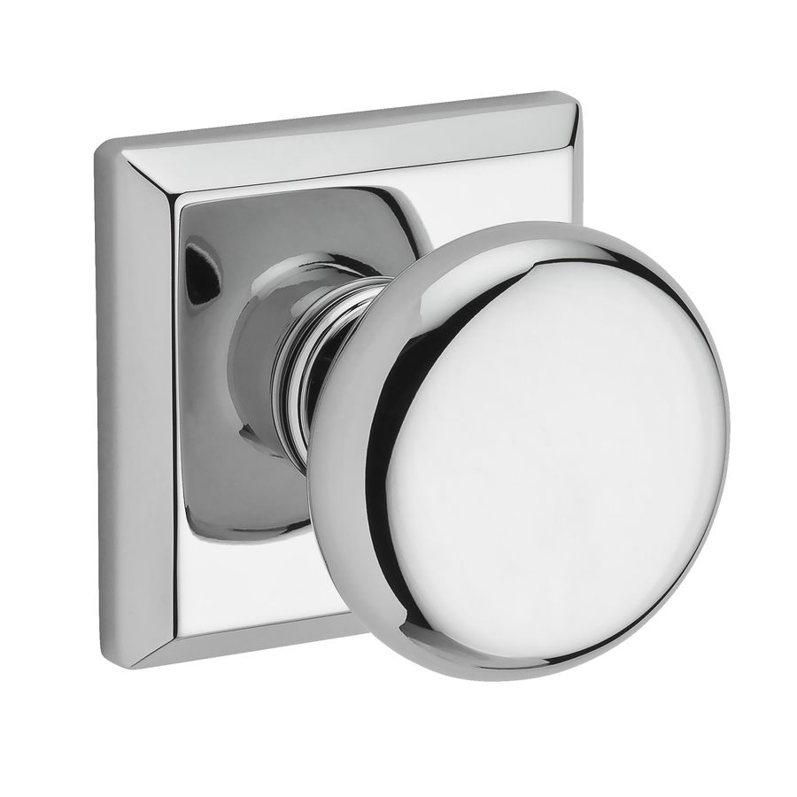 BALDWIN Reserve Polished Chrome Round Push-Button Lock Privacy Door Knob
