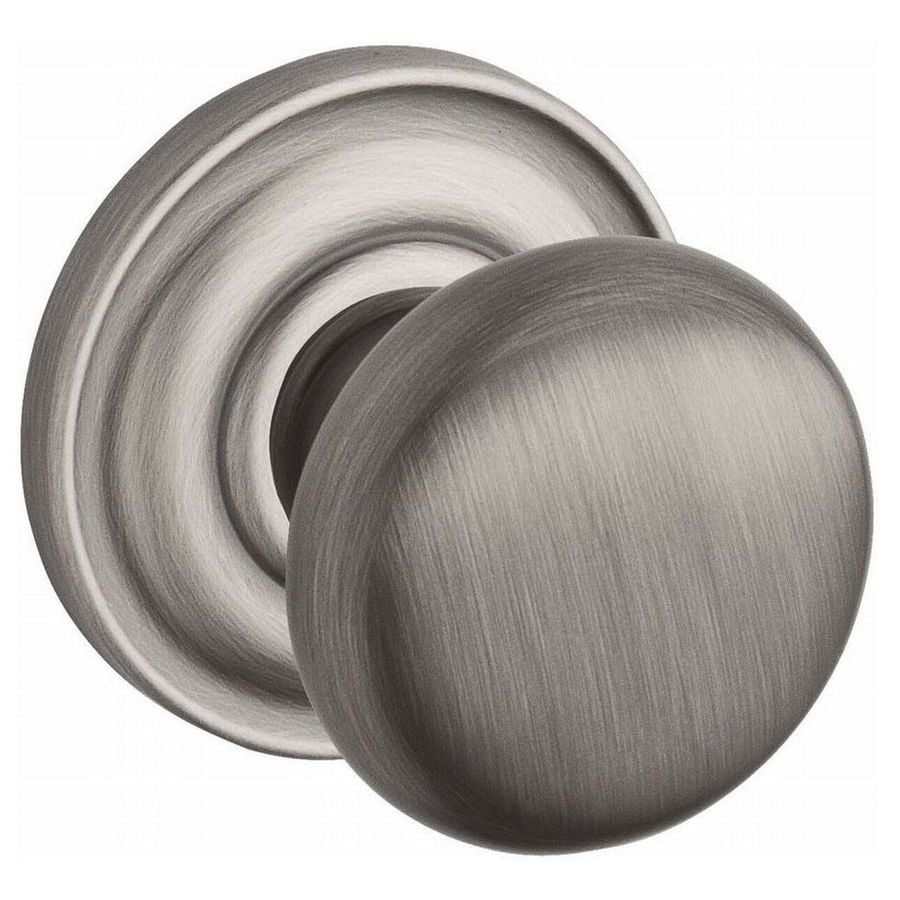 BALDWIN Reserve Round Matte Antique Nickel Passage Door Knob Single Pack