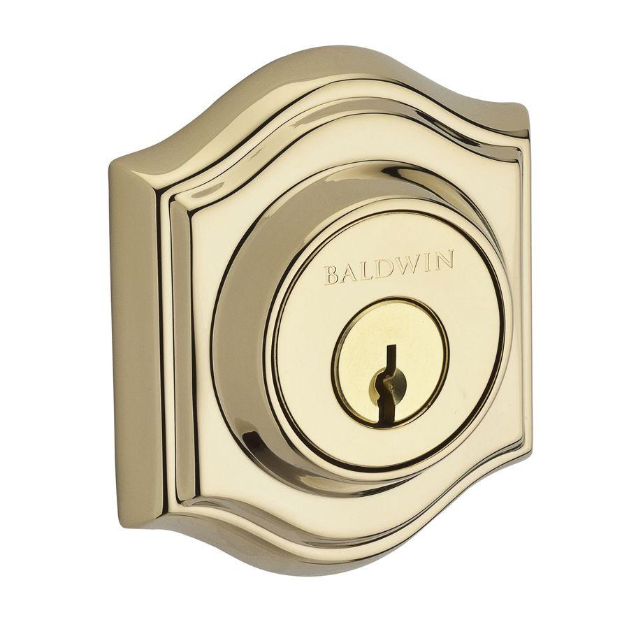 BALDWIN Reserve Lifetime Polished Brass Double-Cylinder Deadbolt