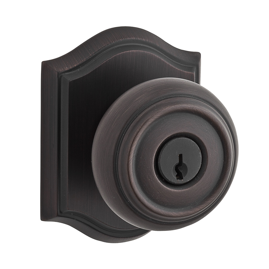 Shop BALDWIN Reserve Traditional Venetian Bronze Round Keyed Entry Door Knob