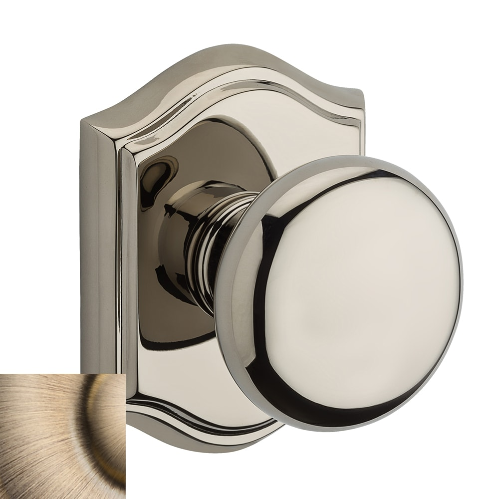 BALDWIN Reserve Round Matte Brass and Black Dummy Door Knob