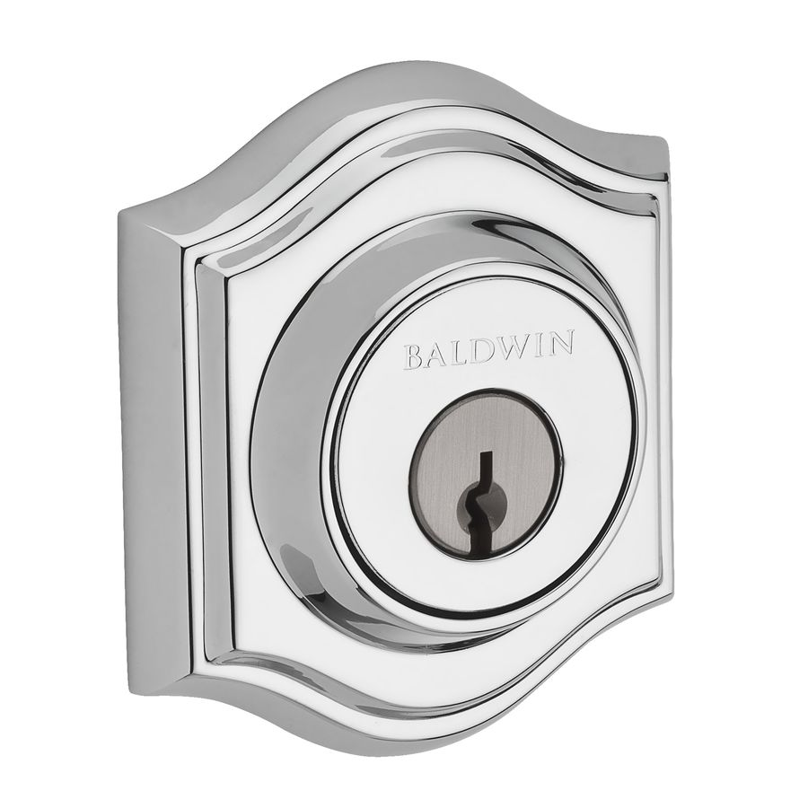 BALDWIN Reserve Polished Chrome Single-Cylinder Deadbolt