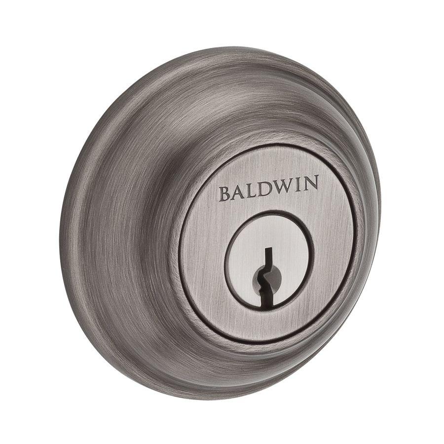 BALDWIN Reserve Matte Antique Nickel Double-Cylinder Deadbolt