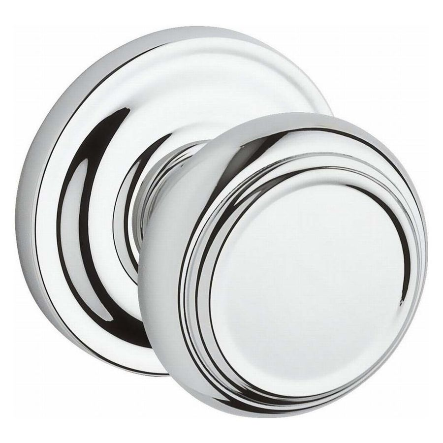 BALDWIN Reserve Traditional Polished Chrome Round Passage Door Knob